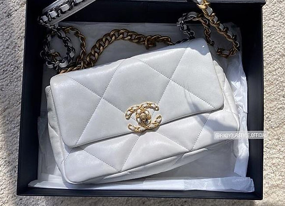 Chanel19 bag 19白色小號