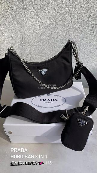 Prada最實用美包✨三合一Hobo Bag👉🏻漲價不停~早買早享受!另外還有更多現場實拍💕新款通通有🔗點入連結看更多💯