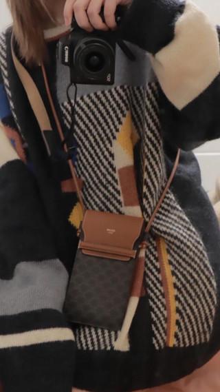 Celine老花手機包  時尚搭配got✅