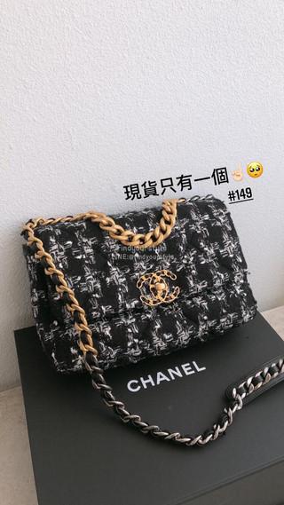 Chanel 19毛呢款 現貨在台只有一個❤️黑白配千鳥格怎麼能不愛!