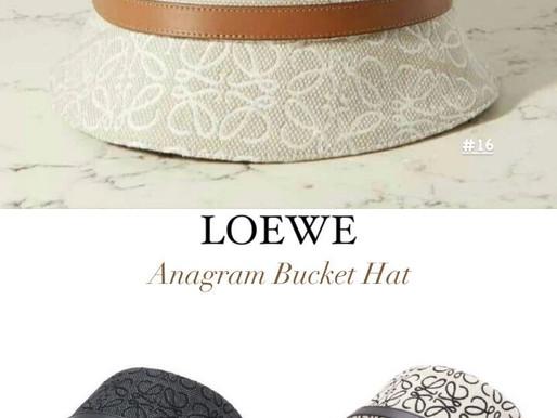 LOEWE漁夫帽、草編包、草編水壺提袋、皮革手環