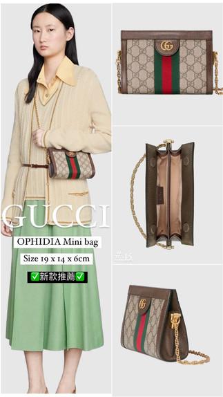 Gucci小包推薦👈🏻New mini bag 腋下包+ mini ophidia bag ✅超香款美包年底請擁有它❤️