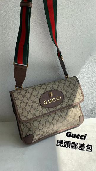 Gucci虎頭郵差包🖤經典老花 精緻Logo✨可肩背 可手拿帥氣又好看🤩🤩🤩