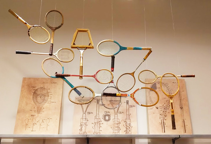 Vintage tennis display