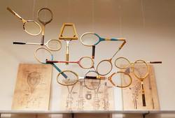 Vintage tennis display