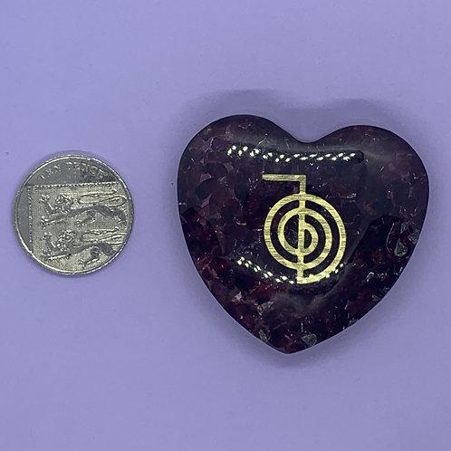 Garnet Orgone Heart