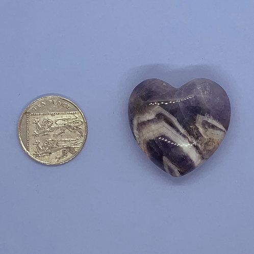Amethyst Dog Teeth Heart