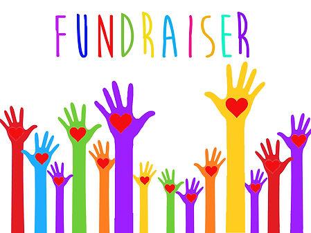Hands raise red heart clipart Fundraiser