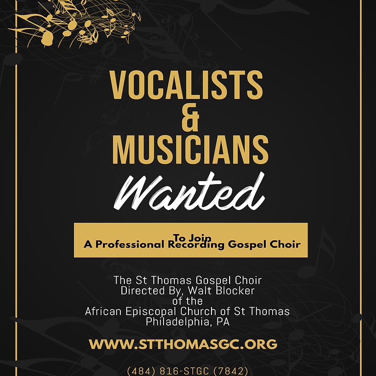 Vocalists and Musicians Wanted