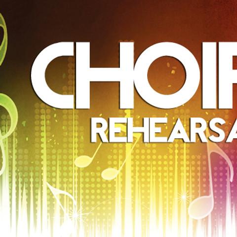 Gospel Choir's Music Ministry Rehearsal