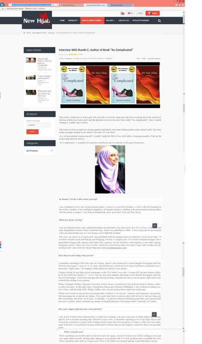 """New Hijab"" Interview / Book Review"