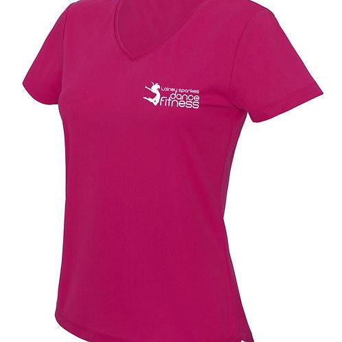 Lainey Sparkes Dance Fitness V Neck T-Shirt