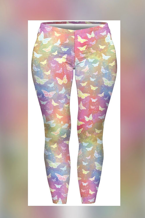 Holo Butterfly Size 2 (fits 14-20) Super Stretch Leggings