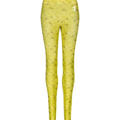 YELLOW GEOMETRIC PRINT ELLA ACTIVEWEAR LEGGINGS