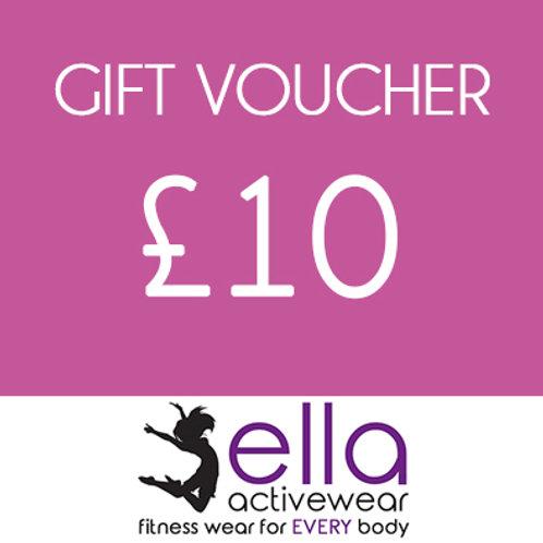 £10 Ella Activewear Gift Voucher