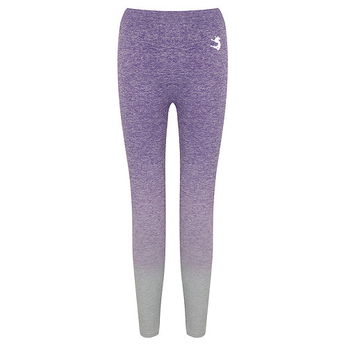 Purple/Grey Ombré Marl Seamless Leggings