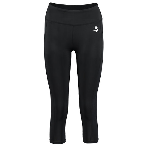 3/4 Length Black Leggings