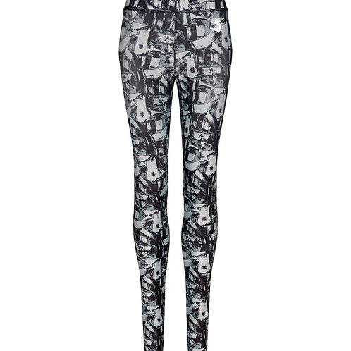 BLACK/WHITE PRINT ELLA ACTIVEWEAR LEGGINGS