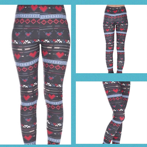 Winter Hearts Superstretch Leggings