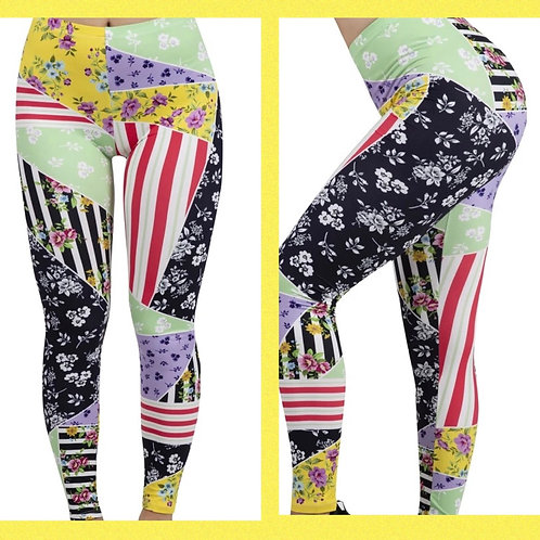 Patchwork Floral Super Stretch Leggings