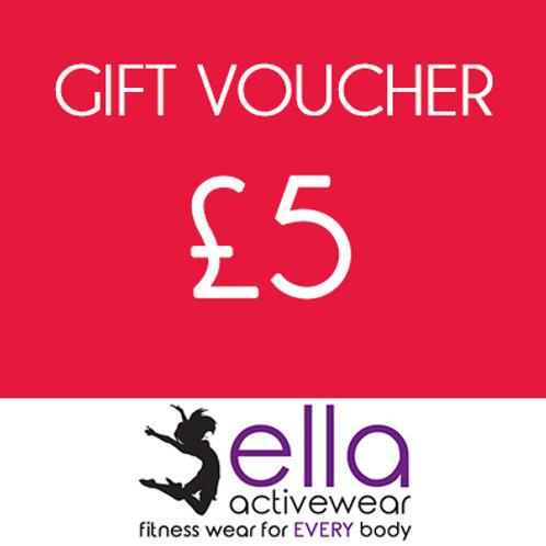 £5 Ella Activewear Gift Voucher