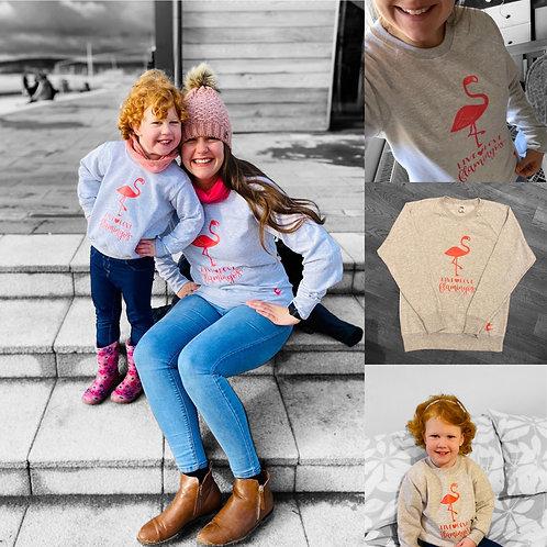 Adults Live Love Flamingos Sweatshirt