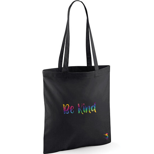 BE KIND RAINBOW SPARKLE TOTE BAG