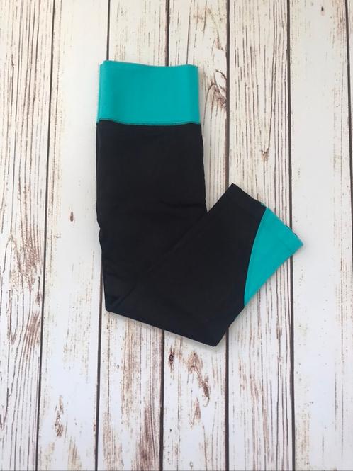 Black/Mint Activewear Capri