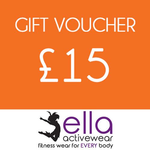 £15 Ella Activewear Gift Voucher