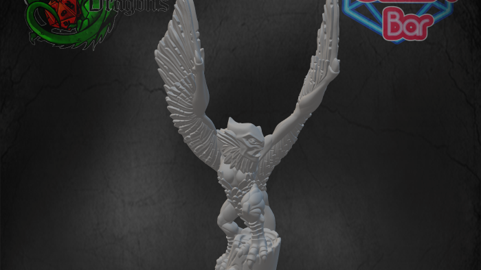 Harpy with Wings Raised