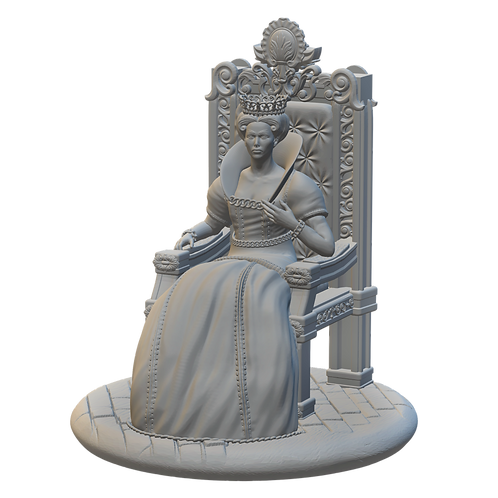 Queen on Throne