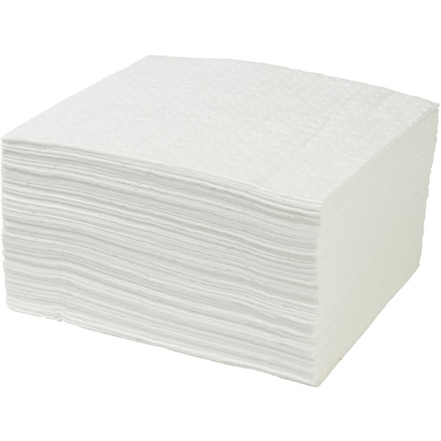 White Sorbent Pads - 100 pk – Oil Only