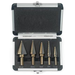 5 pc Cobalt Step Drill Set
