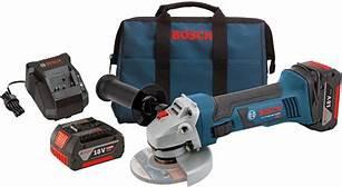 """Bosch 18V 4-1/2"""" Grinder Kit"""