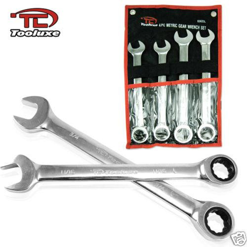 4 pc Jumbo Gear Wrench Set