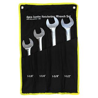 4 pc Ratchet Wrench Set