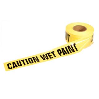 Yellow Caution Wet Paint Tape