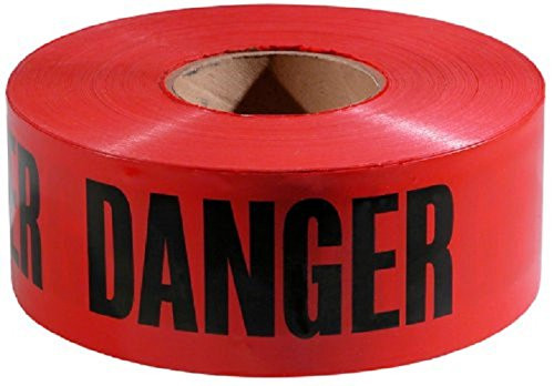 Red Danger Barrier Tape