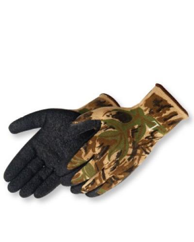 Camo Glove w/Black Latex Dip