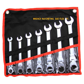 7 pc Flex-Head Gear Wrench Set. Standard or Metric