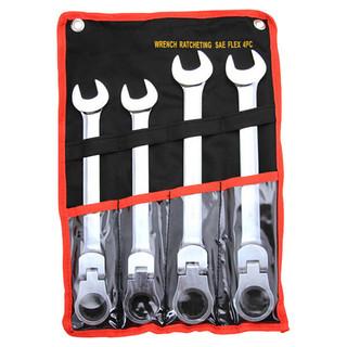4 pc Jumbo Flex-Head Gear Wrench Set