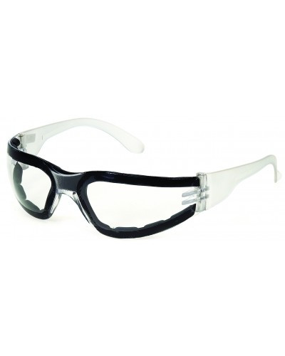Foam Padded Safety Glasses - Clear