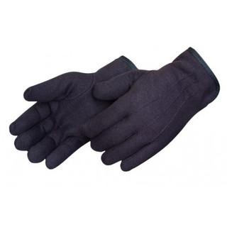 Fleece-Lined Brown Jersey Gloves - Dz