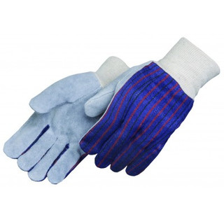 Knit Wrist Leather Palm Gloves