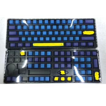 108 Keys Purple-Blue-Yellow PBT keycaps