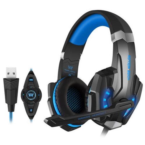 Bengoo G9000 USB 7.1 Surround Sound Vibration Gaming Headphone(Blue only)