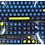 Thumbnail: 108 Keys Purple-Blue-Yellow PBT keycaps