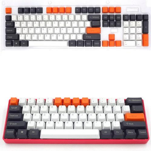 104 Keys 3 Color Big Carbon PBT keycaps