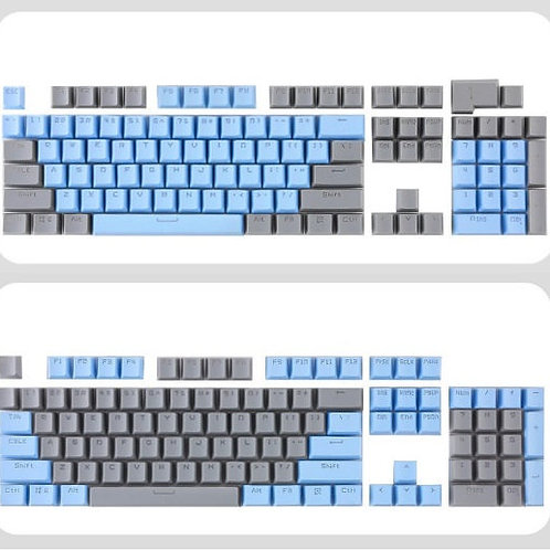 104 Keys Blue Grey Double shot ABS keycaps