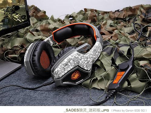 Sades Spirit Wolf Gaming Headset CAMO (3.5mm)
